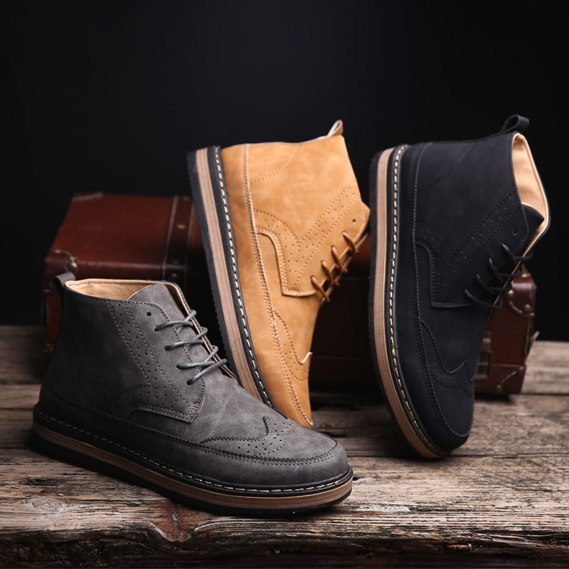 2016 autumn and winter wind of england men's shoes men's shoes bullock retro shoes tide martin boots male boots boots tide