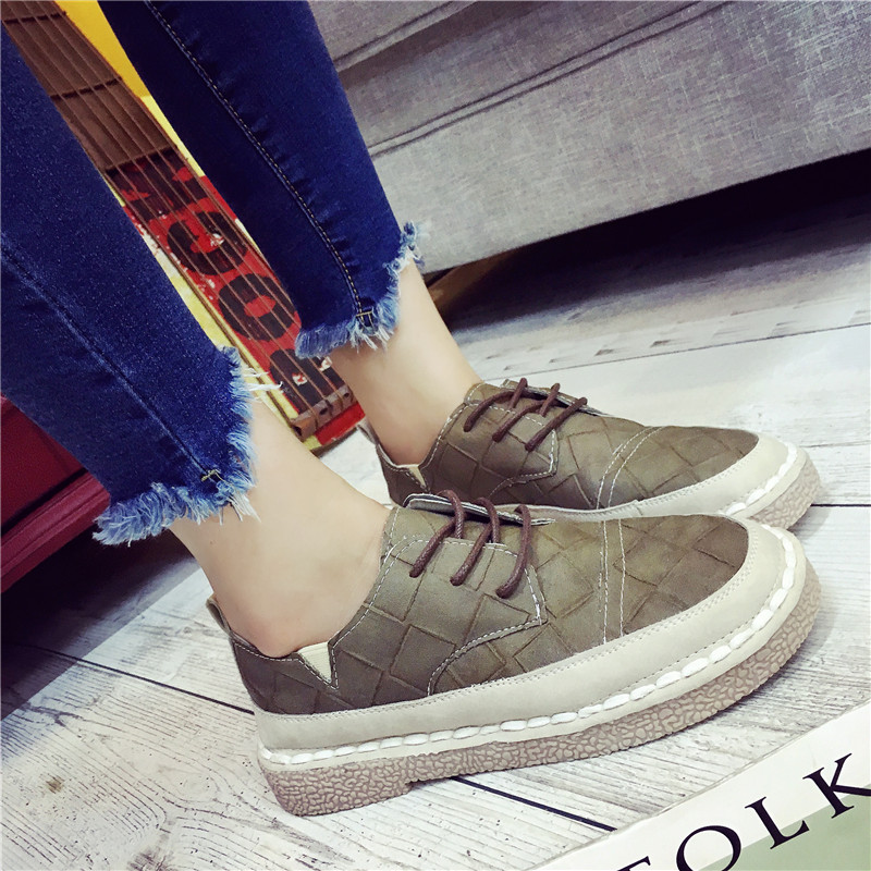 2016 autumn wind of england bullock retro shoes women small leather shoes low heel casual shoes shoes college students wind