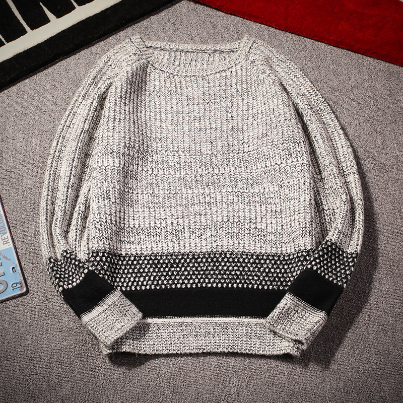 2016 dongkuan round neck sweater men sweater hedging korean slim round neck sweater men sweater bottoming shirt youth