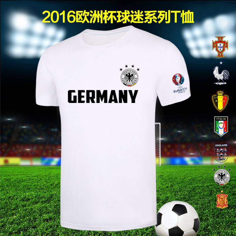 ee04b6bf9 Get Quotations · 2016 french european cup germany italy spain belgian  national team jersey short sleeve t-shirt