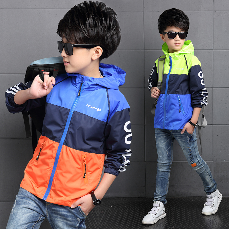 2016 kids boys coat autumn children boys spring and autumn sun protection clothing big virgin new jackets coat