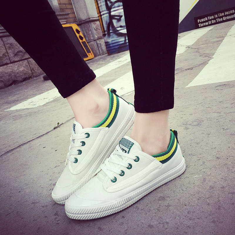 2016 korean version of spring and summer sports shoes flat shoes casual shoes white shoes white shoes single shoes canvas shoes shoes