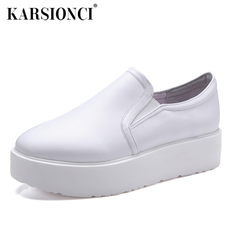 2016 korean version of the fall fashionå¡å£ä»leather patent leather shoes deep mouth round set foot single shoes thick crust muffin