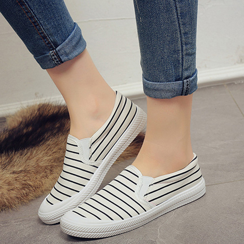 f0a099a5fdf Get Quotations · 2016 korean version of the lazy shoes student shoes flat  shoes shallow mouth to help low