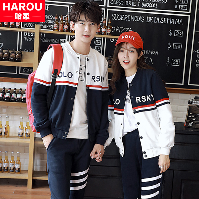 2016 middle school students in a couple of men and women new fall and winter clothes class service men and women plus thick velvet casual sports sweater piece fitted