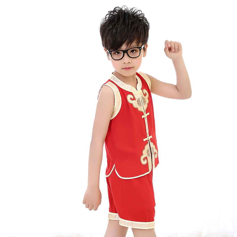 2016 new baby boy costume pageant cat childrenwear sleeveless summer shorts suit costumes for children