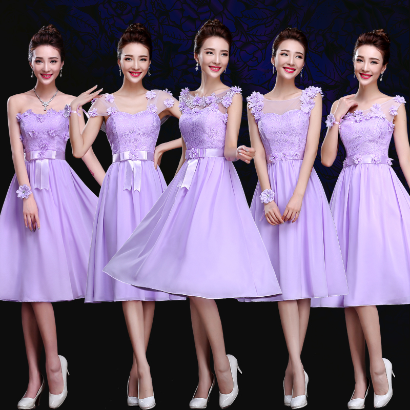 Buy 2016 new bridesmaid dress bridesmaid mission sisters skirt small ...