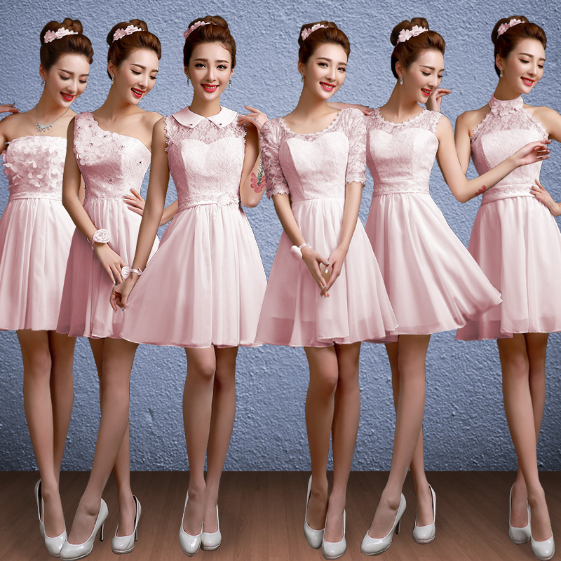 China nude wedding dress china nude wedding dress shopping guide get quotations 2016 new bridesmaid dress long section sisters dress bridesmaid dress evening dress nude pink tie wedding junglespirit Gallery