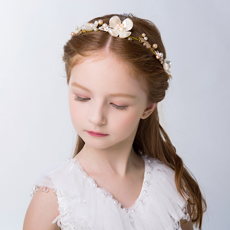 2016 new children's clothing girls korean jewelry crystal headband hair bands children dress child headdress flower bridal hair accessories wedding accessories