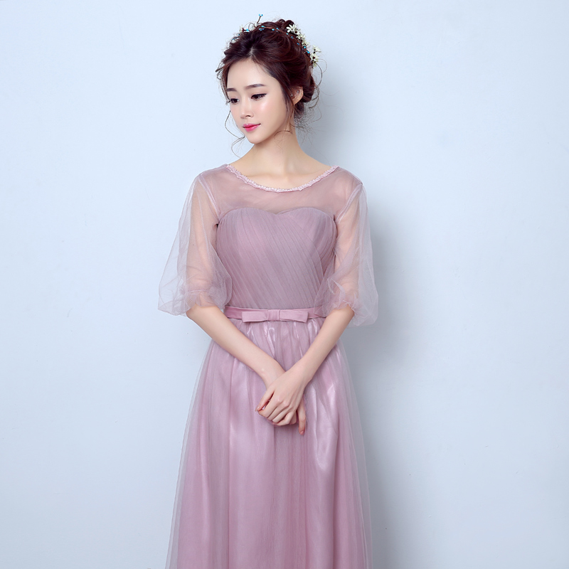 8466dee78 Get Quotations · 2016 new elegant bridesmaid dress party dress long section  sleeve korean version of the host evening