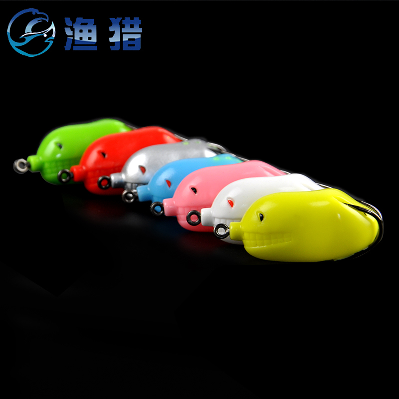 2016 new fishing and hunting miracle ray ray frog frog soft chicken frog blackfish designed to kill ray frog hook barb hook bait lures