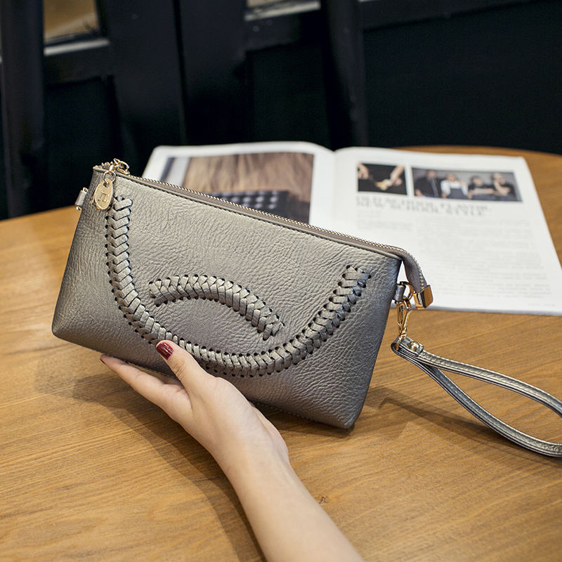 38eec18878b6 Get Quotations · 2016 new handbag messenger bag envelope bag clutch bag  ladies clutch bag phone purse woven shoulder