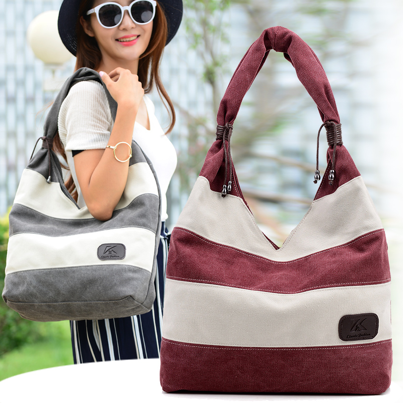 2016 new korean canvas bag handbag handbag shoulder bag simple wild ms. leisure package travel bag