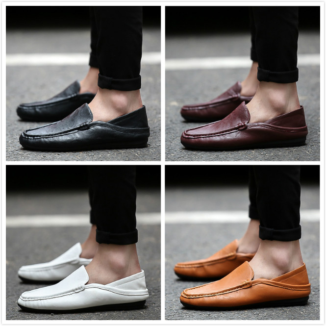 2016 new korean version of casual shoes peas shoes men shoes men's shoes lazy pedal shoes tide summer