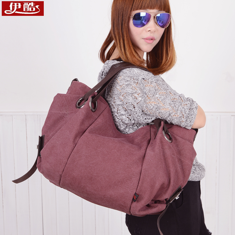 2016 new korean version of the literary wild canvas shoulder bag women bag messenger bag handbag bag korean female bag big bag