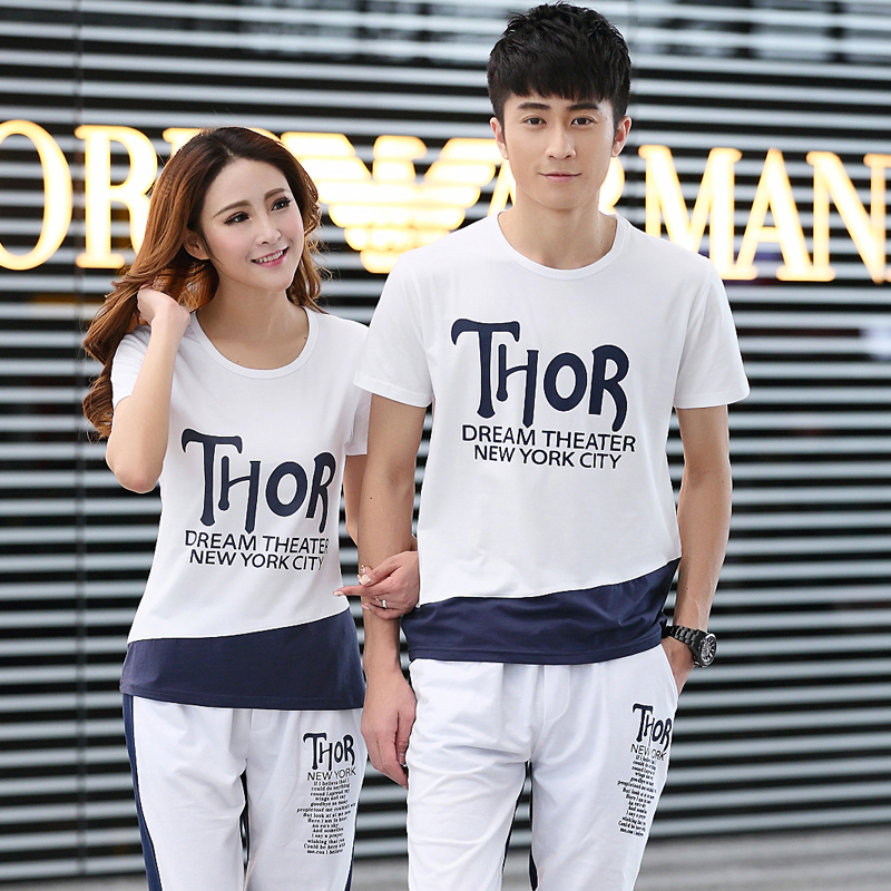 2016 new korean version of the sleeve short sleeve t-shirt lovers summer student dress half sleeve compassionate men and women qlz road conditions