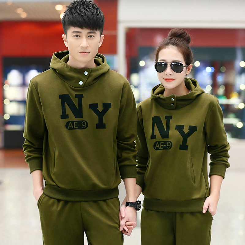 2016 new ms. spring and autumn casual clothes free shipping hooded track suit korean version of the large trumpet fashion lovers clothes