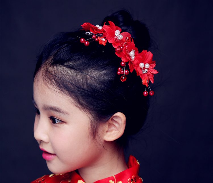 2016 new red dress accessories children children headdress hair bands hair accessories for children gong master performance crown tiara