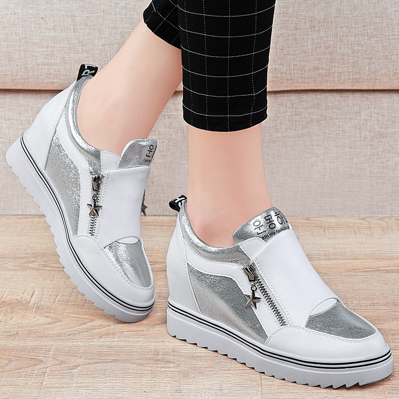 2016 new single shoes women shoes autumn shoes women flat shoes casual shoes women within the korean version of women's shoes increased white shoes women shoes