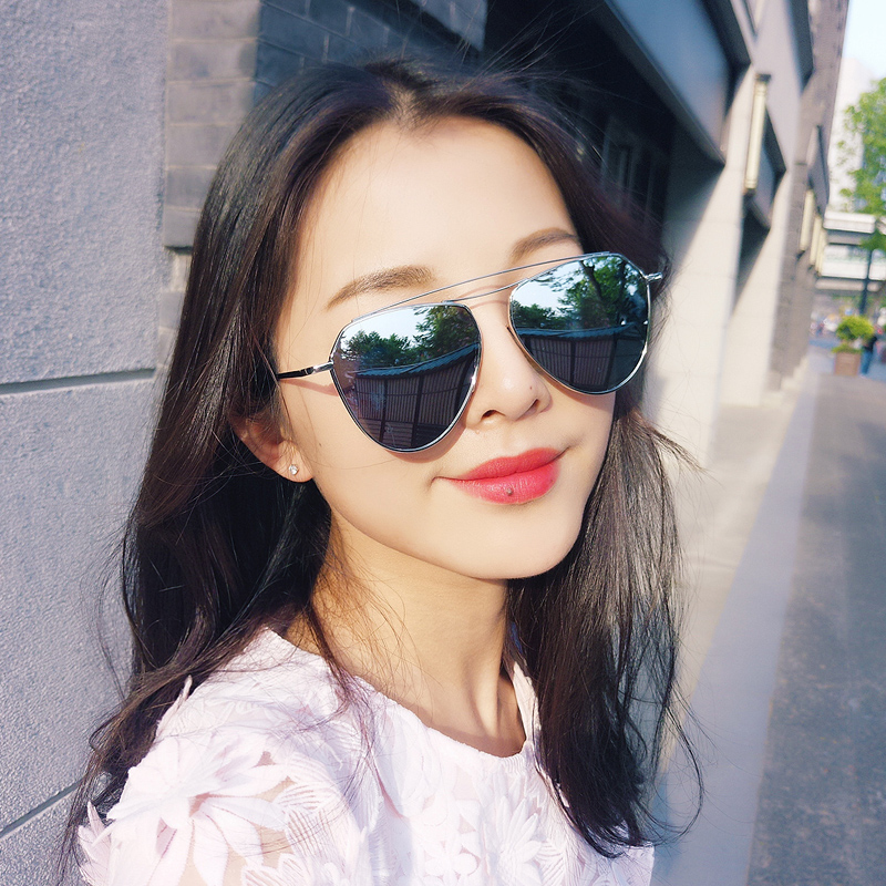 2016 new sunglasses female big box fashion sunglasses yurt ms. korean version of the colorful sunglasses female influx of people