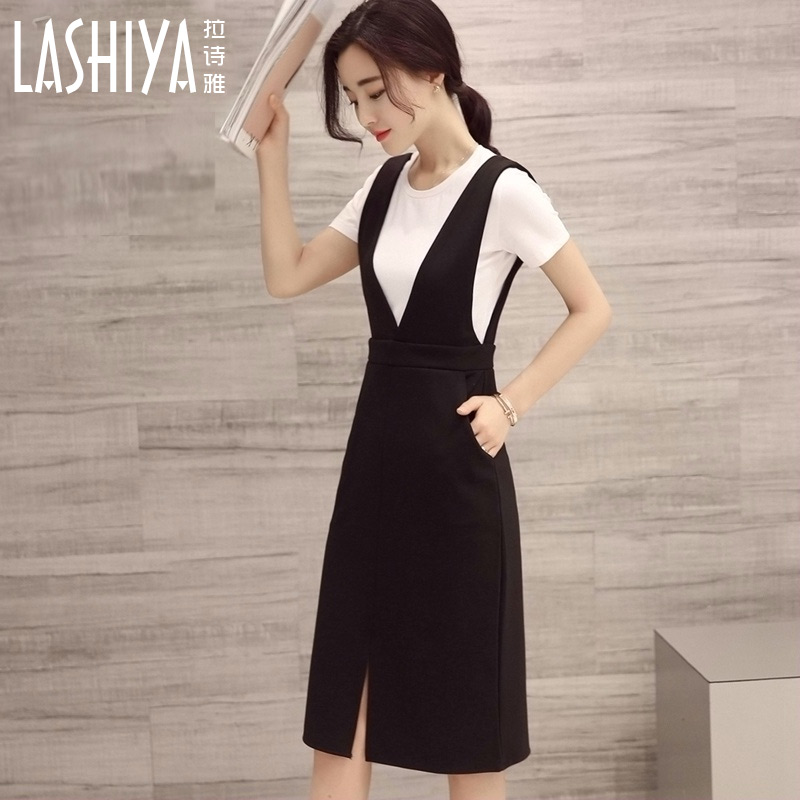 5d4c3761ad23 Get Quotations · 2016 new wave of women's summer long section piece fitted  strap dress slim jumpsuit dress white