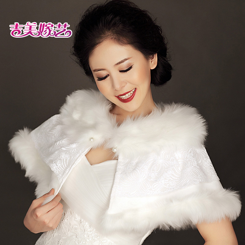 2016 new wedding shawl wool shawl bride dress accessories korean suit winter bride wedding shawl pj01 1b