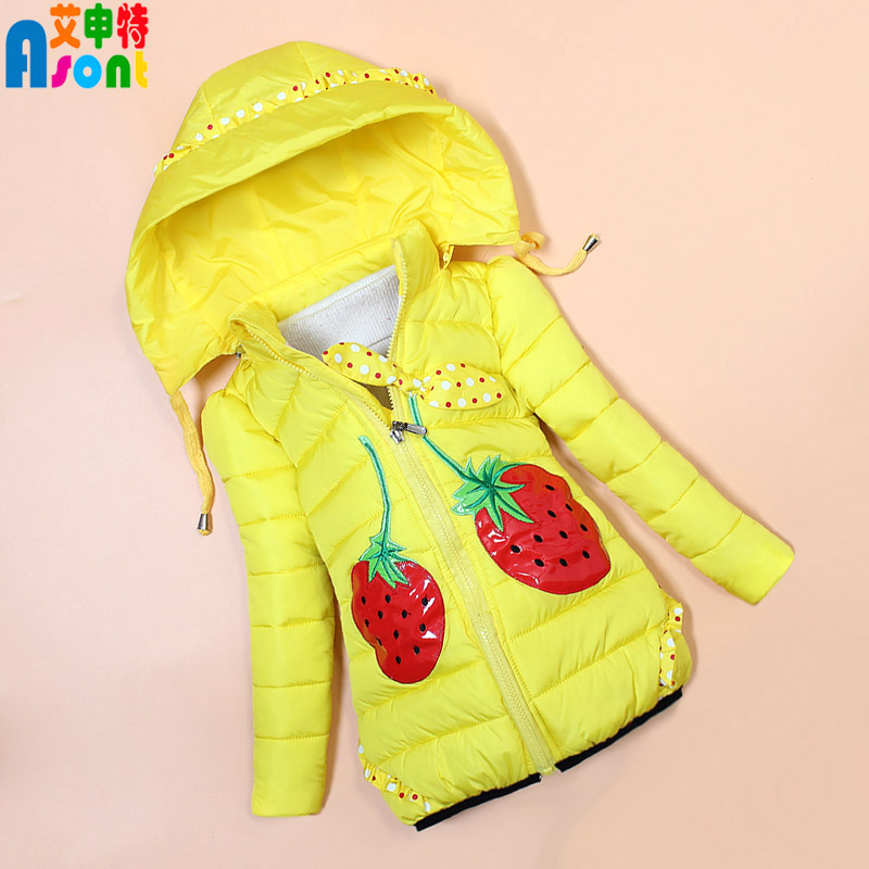 0922e8b5d Get Quotations · 2016 new winter coat female baby girls winter coat long  section of small girls in child