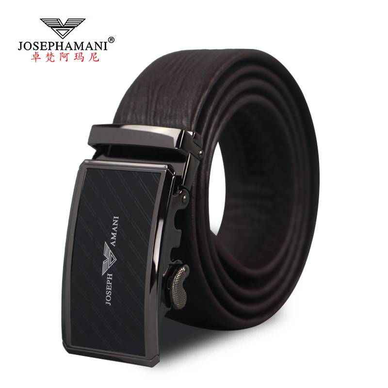 2016 new zhuo fan armani leather belt men's automatic buckle belt first layer of cow leather men's business belt