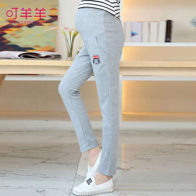 2016 spring and autumn maternity maternity pants fashion care of pregnant women pregnant belly pants big yards straight barrel pants long pants leggings