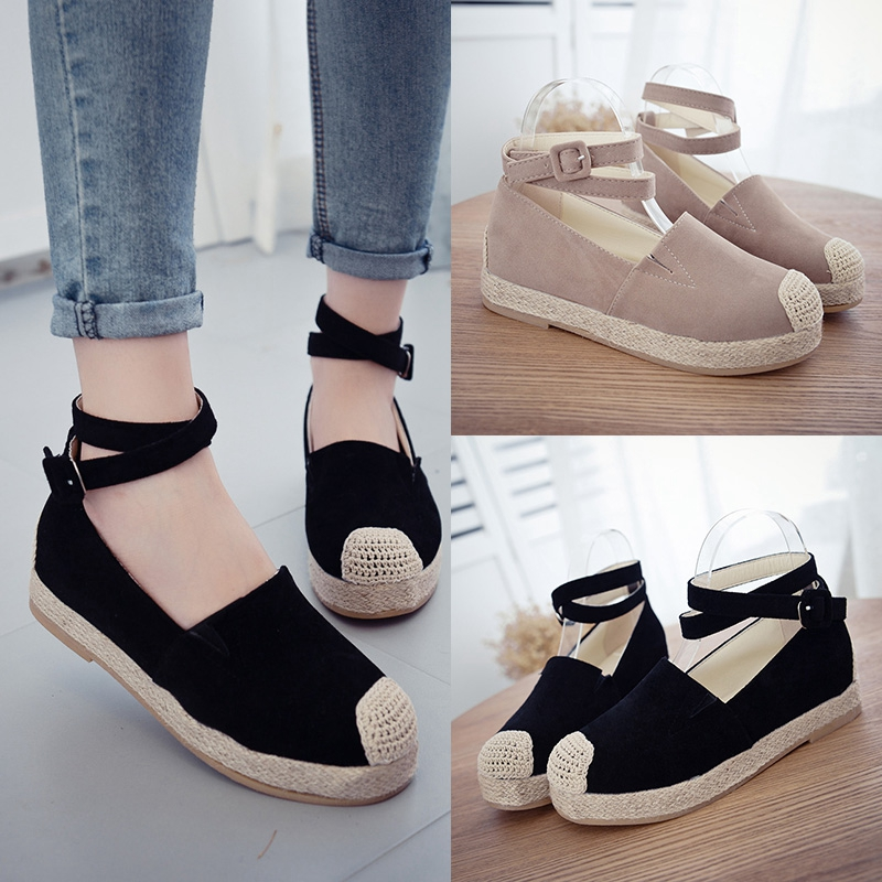 2016 spring and autumn new flat bottomed shoes casual shoes women shoes canvas shoes with flat shoes loafers shoes elevator shoes tide