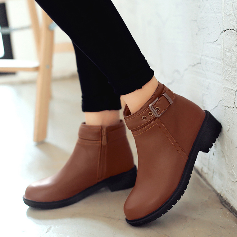 100% original sale online shopping online for sale Increased 2016 new Korean version of the Spring and Autumn round Martin boots naked boots single boots and shoes in the autumn and winter bo cheapest price sale online limited edition sale online HiYP89b