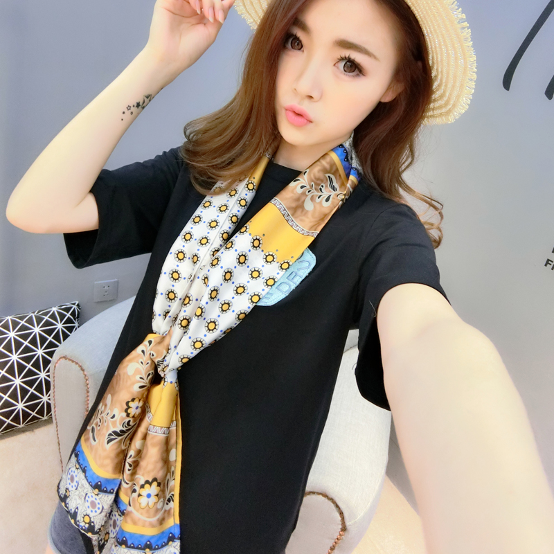 2016 spring and summer new korean duo of hundreds of millions of respect for small bunk beach scarf scarf female long scarf scarf