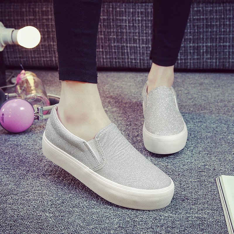 2016 spring and summer shoes tide female korean student flat with thick crust sets foot lazy shoes canvas shoes female korean tidal shoes