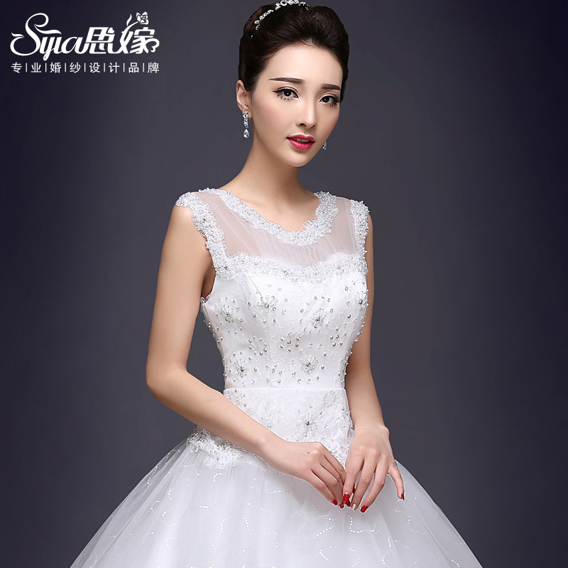 6e3aa7a41ca Get Quotations · 2016 spring and summer vintage wedding dress shoulder  straps wedding dress straps qi was thin big