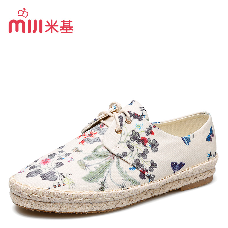 2016 spring shoes women shoes lace canvas shoes ma dixie mickey printing low shoes flat shoes casual shoes tide students