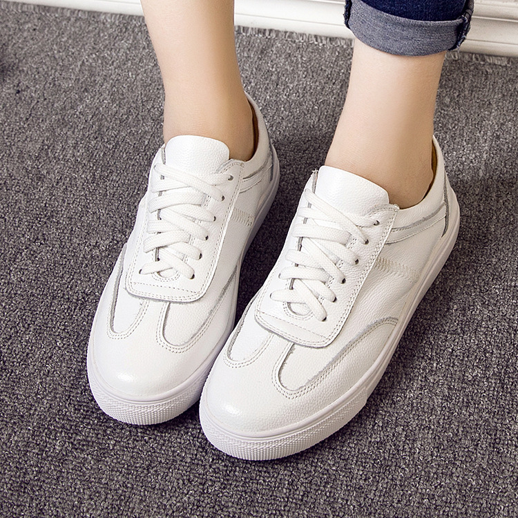 2016 summer and new leather shoes white shoes british style for men and women casual sports shoes couple shoes student shoes 8828