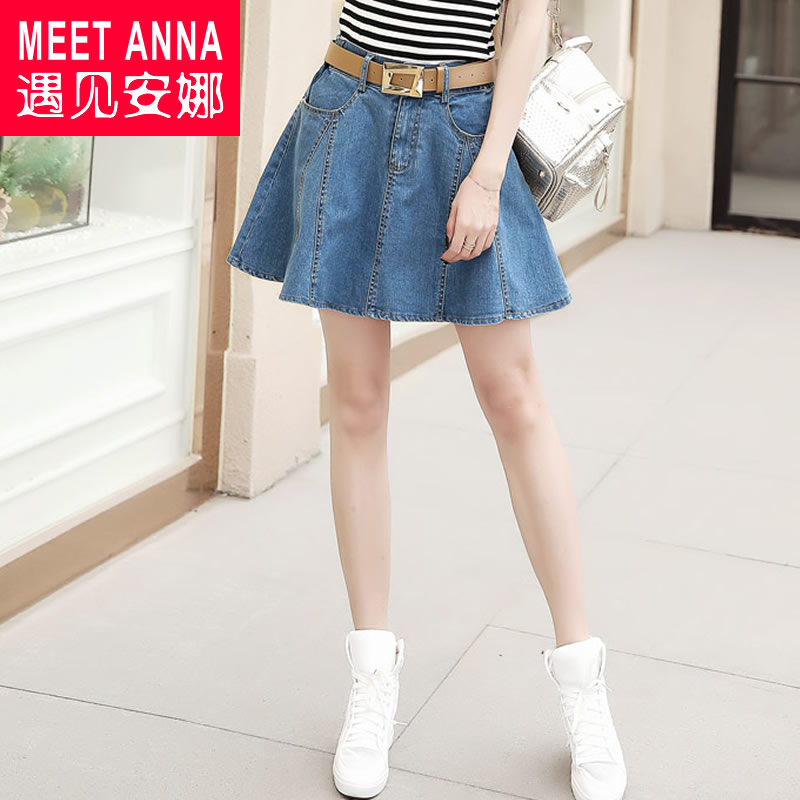 c0fbc2cfe4 Get Quotations · 2016 summer korean version of casual denim skirt skirts  ms. mini slim income waist sweet