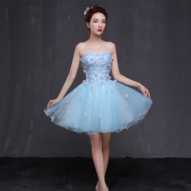 2016 summer new bride married the sister group bridesmaid dress banquet evening dress short paragraph dress bridesmaid dress toast wine crooner