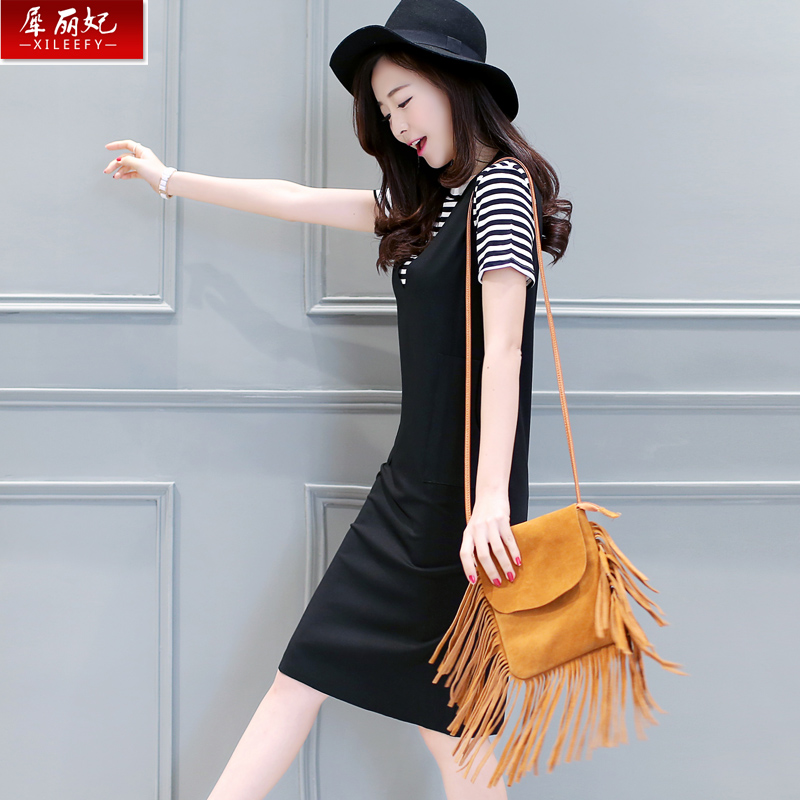 2016 summer new fashion suit female korean female piece dress sweet sen female slim was thin leisure suit