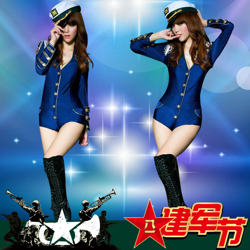 2016 summer new female jazz costume masquerade sexy uniforms nightclub bar ds stage costumes