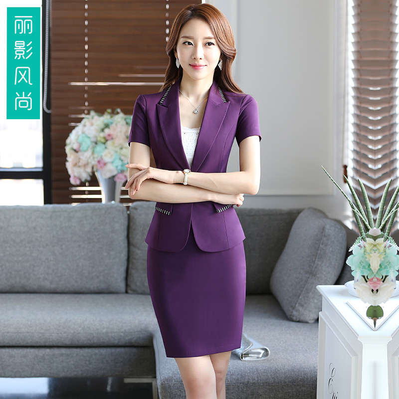 2016 summer new korean women wear suits slim suits ladies skirt suits overalls interview