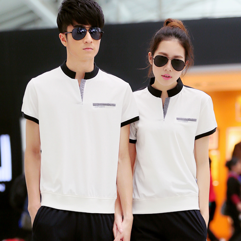 2016 summer new men and women casual sports t-shirt xl couple sportswear breathable short sleeve