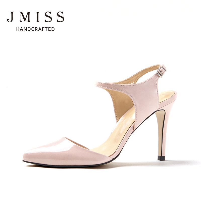 d9eaf8d31bc7 Get Quotations · 2016 summer new shoes jmiss pink small fine pointed shoes  with high heels ol leather slingback