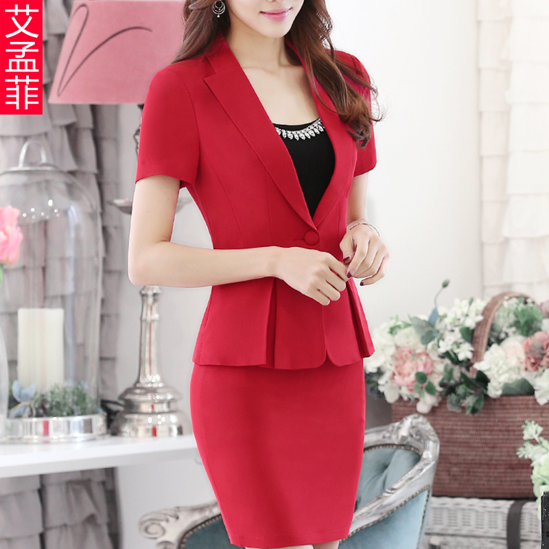 2016 summer wear women's suits ol suit suit ladies dress career suits overalls skirt short sleeve