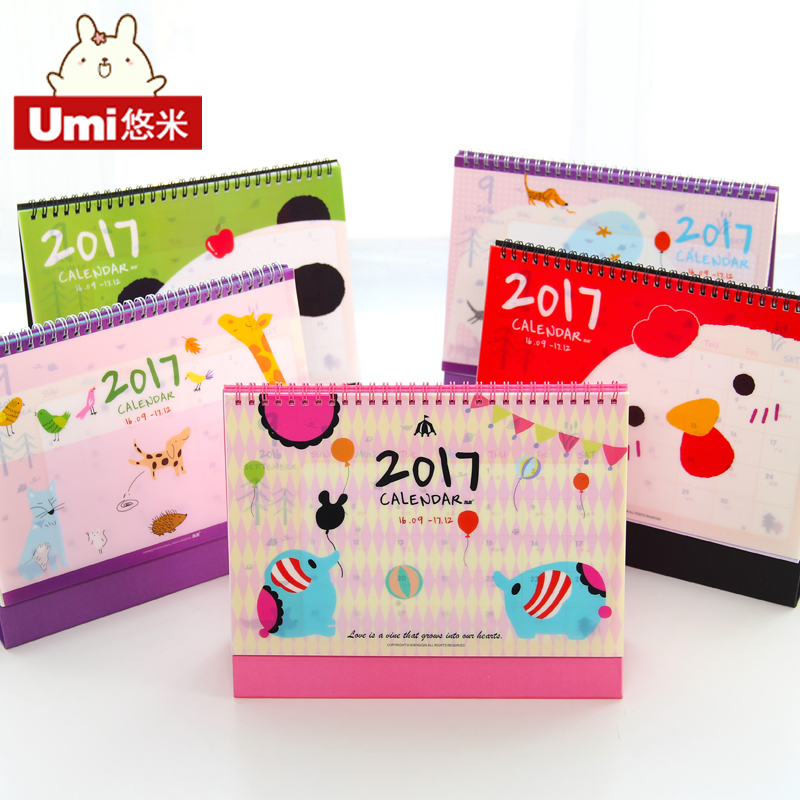 2017 calendar notepad korea creative cute notepad program of the lunar calendar desktop calendar free shipping