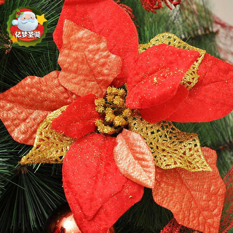 20CM million dream wine red christmas flower christmas tree ornaments christmas decorations christmas wreath christmas wreath christmas door decorations