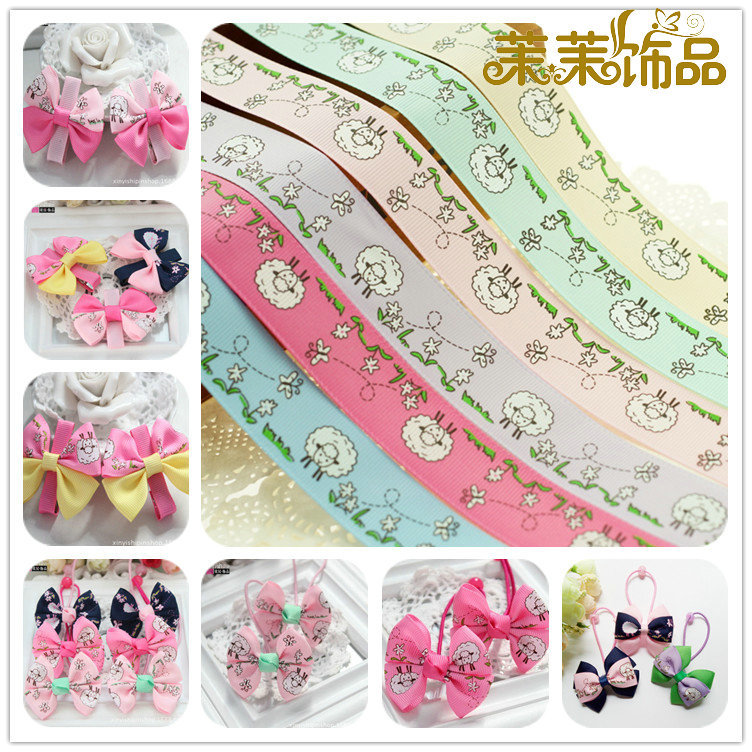 25mm/radiant section cecectomized 5cm threaded with ribbon ribbon diy handmade ribbon bow hair ornaments handmade bow