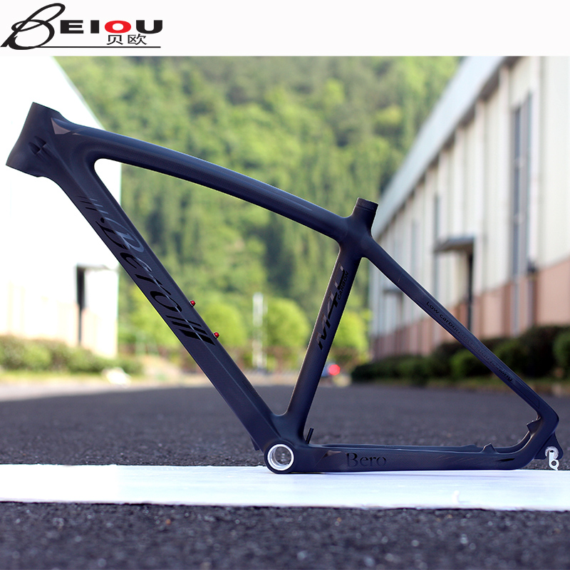 26 inch beiou carbon fiber mountain bike frame integrally molded light traces within BO-B02 accessories