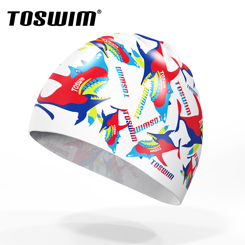 Toswim billiton wins swimming cap with long hair for men and women super stretch swimming cap ear waterproof silicone swimming cap swimming cap comfortable fit
