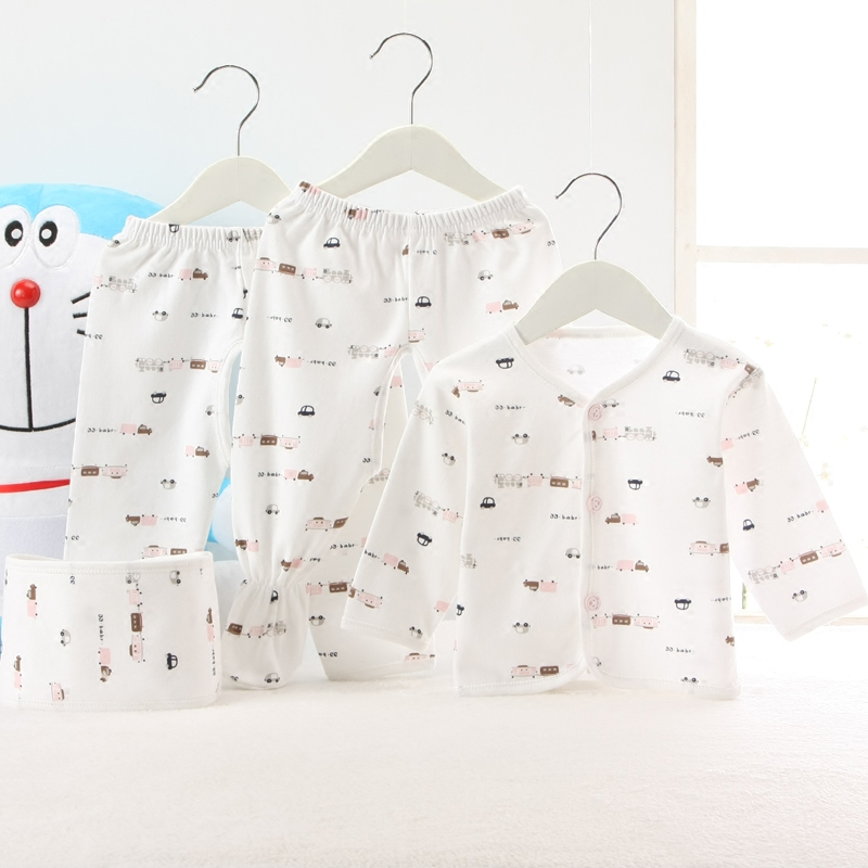 3 5 newborn baby clothes newborn baby underwear sets wujiantao lace baby and shang suit three sets of spring Dress